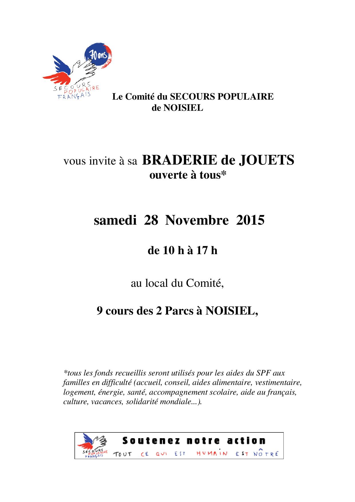 BRADERIE 28 NOVEMBRE 2015 AFFICHE (1)